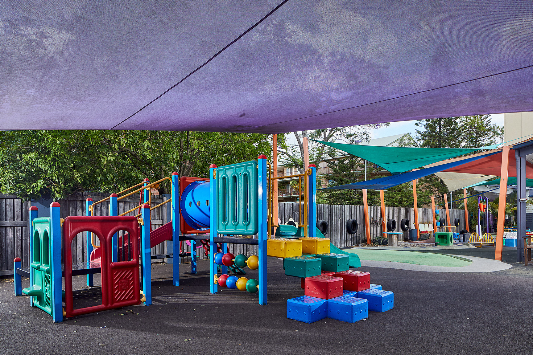 Child care centre fort and outdoor area